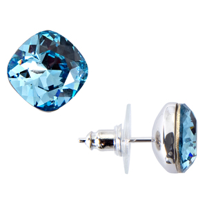 "Isabel Aquamarine by H2Z Made with Swarovski Elements - 0.375"" Crystal  Stud Earring made from Swarovski Elements"