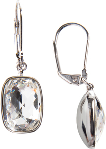 "Kate Crystal by H2Z Made with Swarovski Elements - 0.375"" x 0.5"" Crystal Dangle  Earrings made from Swarovski Elements"