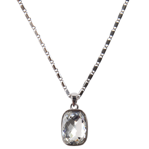 "Kate Crystal by H2Z Made with Swarovski Elements - 16.5""-18"" Necklace with 0.375"" x 0.5"" Crystal Pendant made from Swarovski Elements"
