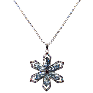 "Holiday Collection Snowflake by H2Z Made with Swarovski Elements - 16""-18"" Necklace with 1.25"" Crystal Snowflake Pendant  made from Swarovski Elements"