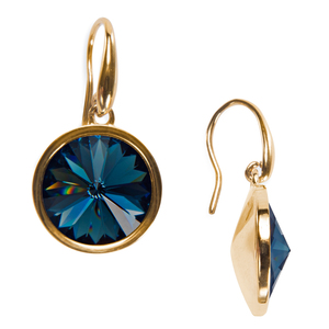 "Liza Montana by H2Z Made with Swarovski Elements - 0.625"" Crystal  Dangle Earring made from Swarovski Elements"