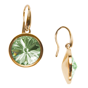 "Liza Chrysolite by H2Z Made with Swarovski Elements - 0.625"" Crystal  Dangle Earring made from Swarovski Elements"