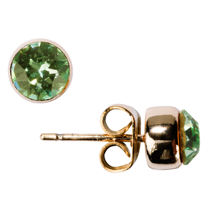 "Liza Chrysolite by H2Z Made with Swarovski Elements - 0.325"" Crystal  Stud Earring made from Swarovski Elements"