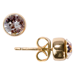 "Liza Silk by H2Z Made with Swarovski Elements - 0.325"" Crystal  Stud Earring made from Swarovski Elements"