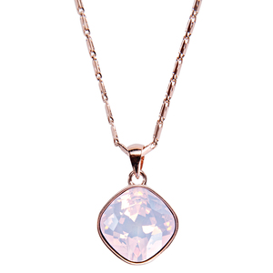 "Isabel Rose Water Opal by H2Z Made with Swarovski Elements - 16.5""-18"" Necklace with 0.5"" Crystal Pendant made from Swarovski Elements"