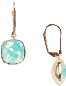 "Isabel Pacific Opal by H2Z Made with Swarovski Elements - 1.25"" Dangle Earring with 0.5"" Crystal made from Swarovski Elements"