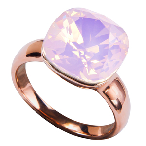 "Isabel Rose Water Opal by H2Z Made with Swarovski Elements - Size 8 Ring with 0.5"" Crystal made from Swarovski Elements"