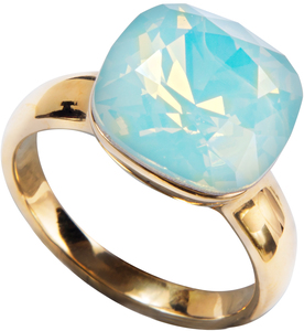 "Isabel Pacific Opal by H2Z Made with Swarovski Elements - Size 6 Ring with 0.5"" Crystal made from Swarovski Elements"