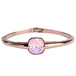 "Isabel Rose Water Opal by H2Z Made with Swarovski Elements - 2.125"" Crystal Bangle Bracelet made from Swarovski Elements"