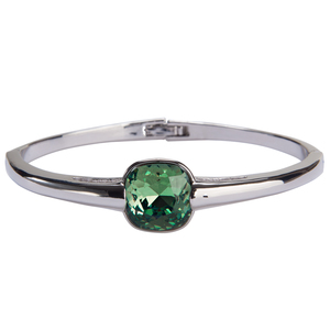 "Isabel Erinite by H2Z Made with Swarovski Elements - 2.125"" Crystal Bangle Bracelet made from Swarovski Elements"