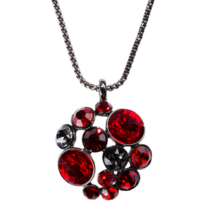 "Liza Crimson by H2Z Made with Swarovski Elements - 35"" - 37"" Crystal Sweater Chain Necklace made from Swarovski Elements"