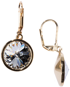 "Liza Crystal by H2Z Made with Swarovski Elements - 0.625"" Crystal Dangle Earring made from Swarovski Elements"