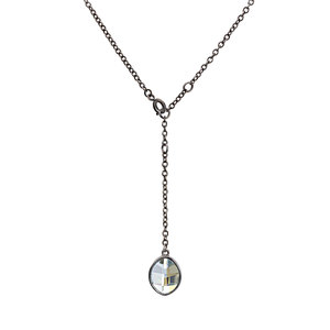 "Crystal Blue Shade Marquise by H2Z Made with Swarovski Elements - 12""-14"" Swarovski Crystal Necklace"