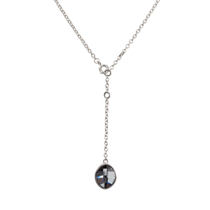 "Crystal Silver Night Marquise by H2Z Made with Swarovski Elements - 12""-14"" Swarovski Crystal Necklace"