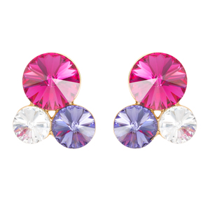 Liza Jewel by H2Z Made with Swarovski Elements - Swarovski Crystal  Stud Earring