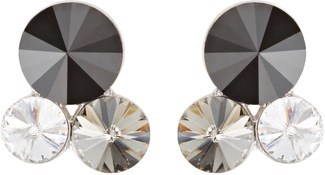 Liza Jet by H2Z Made with Swarovski Elements - Swarovski Crystal  Stud Earring