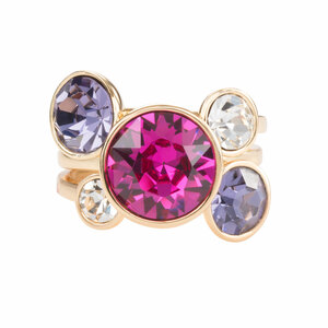 Liza Jewel by H2Z Made with Swarovski Elements - Size 7 Swarovski Crystal Ring