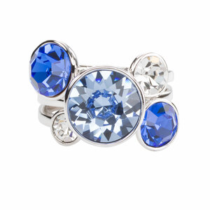 Liza Azure by H2Z Made with Swarovski Elements - Size 7 Swarovski Crystal Ring