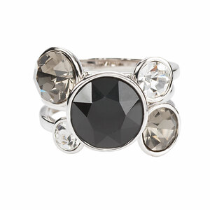 Liza Jet by H2Z Made with Swarovski Elements - Size 7 Swarovski Crystal Ring