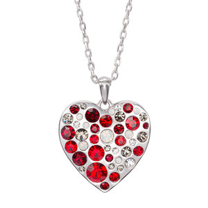 "Liza Red Heart by H2Z Made with Swarovski Elements - 16""-18"" Swarovski Crystal Pendant"
