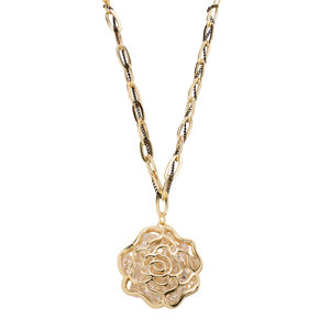 "Nena Gold by H2Z Made with Swarovski Elements - 36"" Swarovski Crystal Sweater Chain Necklace"