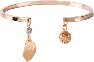 "Rosa Leaf by H2Z Made with Swarovski Elements - 2.5"" Open Bangle"