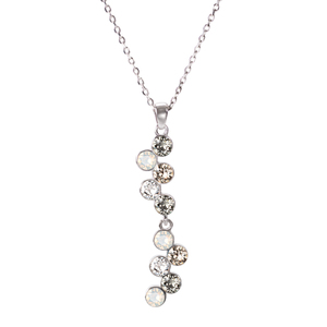 "Liza Jet by H2Z Made with Swarovski Elements - 16""-18"" Swarovski Crystal Pendant"