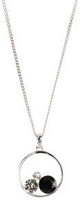 "Jet by H2Z Made with Swarovski Elements - 16""-18"" Hoop Pendant"