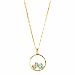 "Chrysolite by H2Z Made with Swarovski Elements - 16""-18"" Hoop Pendant"