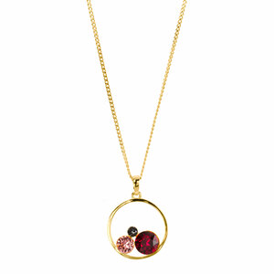 "Ruby by H2Z Made with Swarovski Elements - 16""-18"" Hoop Pendant"