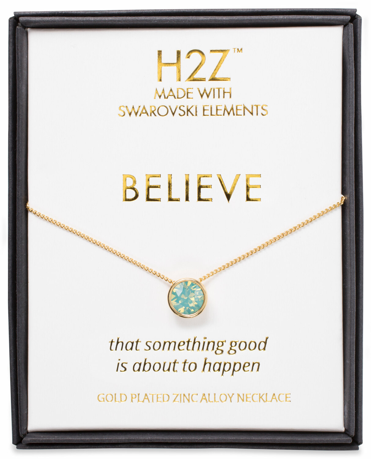 "Believe Pacific Opal by H2Z Made with Swarovski Elements - Believe Pacific Opal - 16"" - 17.5"" Necklace"