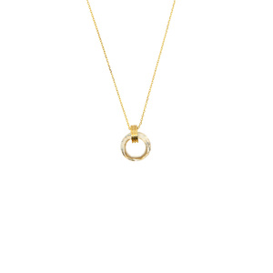 Crystal Golden Shadow Cosmic by H2Z Made with Swarovski Elements - Gold Plated Swarovski Element Necklace