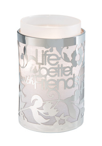 "Life is Better with Friends by Simply Shining - 3.5""x5.5"" Pierced Met Hur"