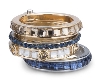 Coastal by H2Z Radiant Rings - Size 7 Ring with 4 Stacked Crystal Layers