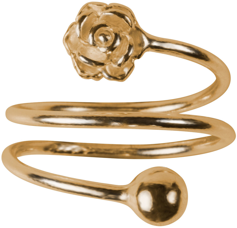 1 Coil Flower by H2Z Spiral Rings - 1 Coil Flower - Gold Spiral Adjustable Ring