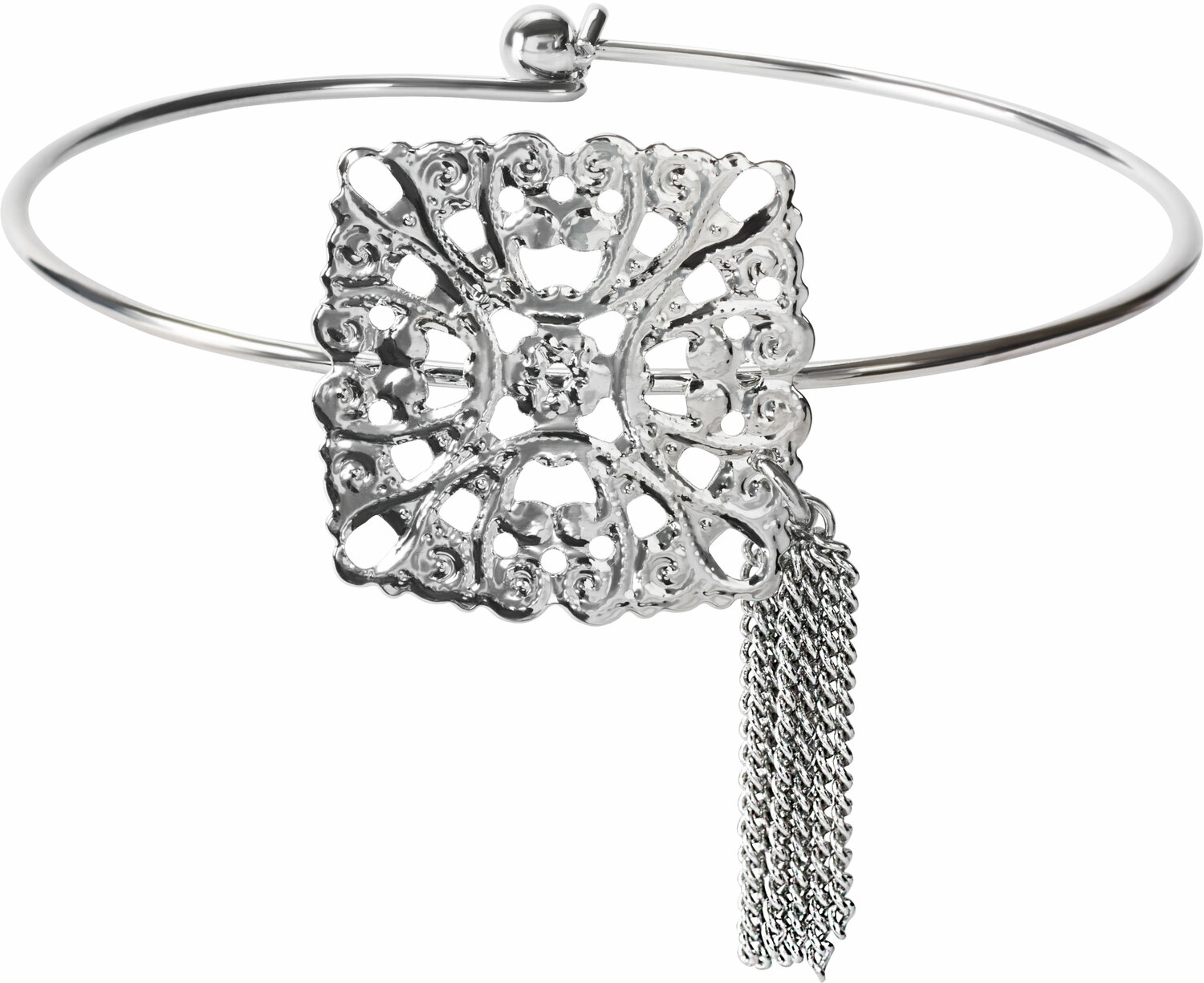 Silver Arabesque by H2Z Filigree Jewelry - Silver Arabesque - Filigree Bangle Bracelet