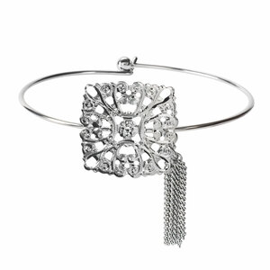 Silver Arabesque by H2Z Filigree Jewelry - Filigree Bangle Bracelet