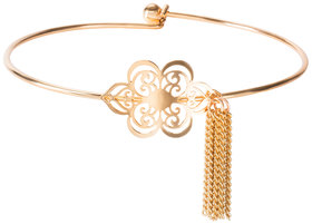 Gold Floral Frill by H2Z Filigree Jewelry - Filigree Bangle Bracelet