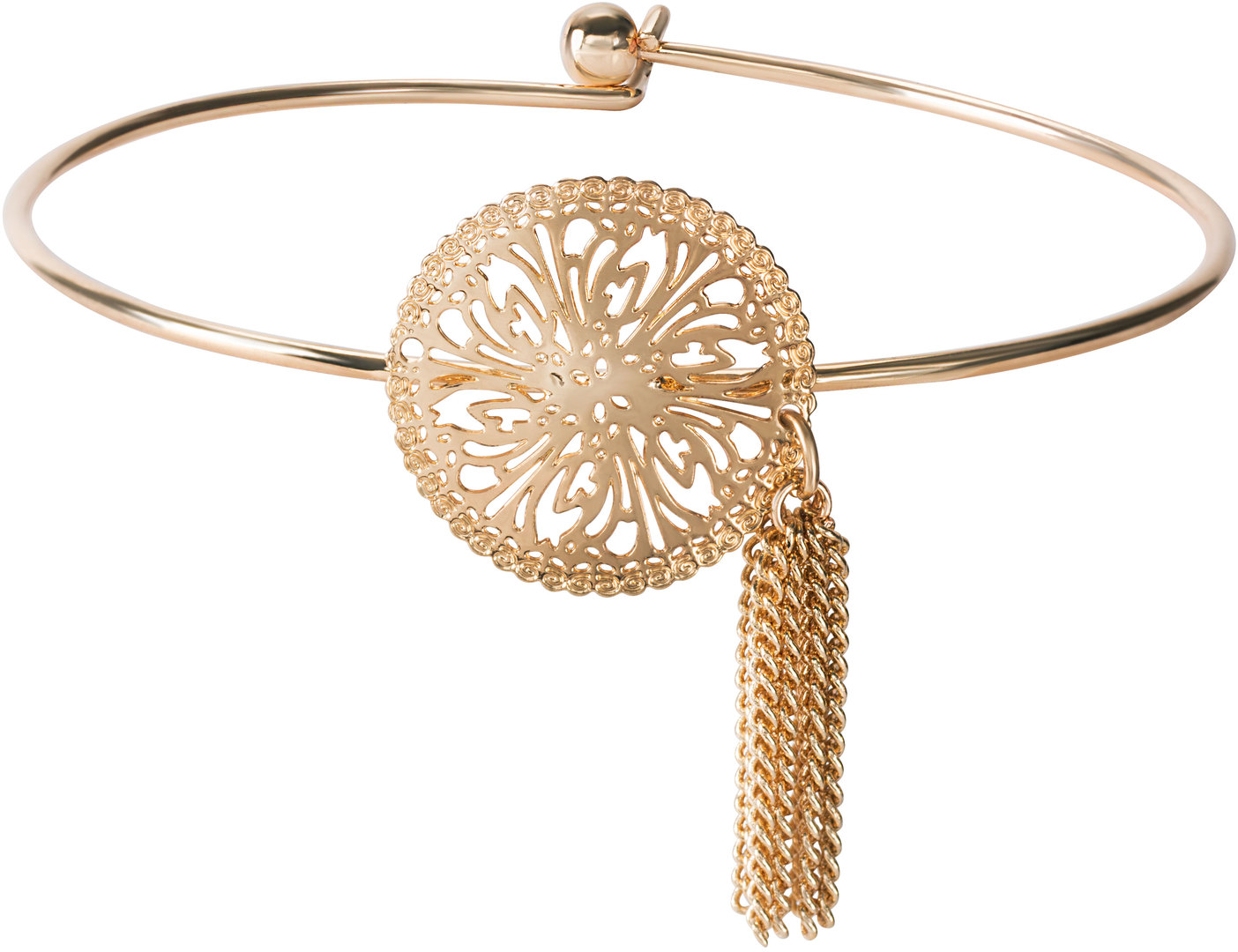 Gold Flourish by H2Z Filigree Jewelry - Gold Flourish - Filigree Bangle Bracelet
