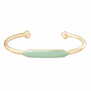 Gold Mint Enamel by H2Z Filigree Jewelry - Bangle Bracelet
