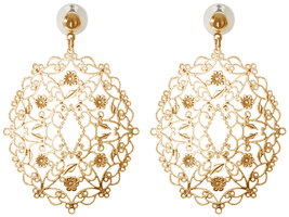 Gold Wreath by H2Z Filigree Jewelry - Filigree Dangle Earring