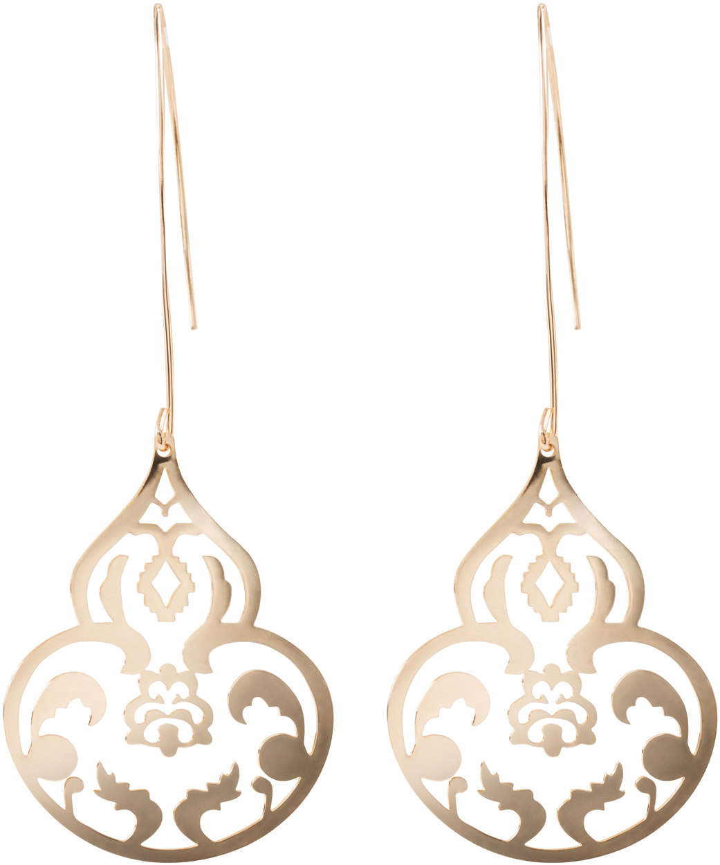 Gold Ornament by H2Z Filigree Jewelry - Gold Ornament - Filigree Dangle Earring