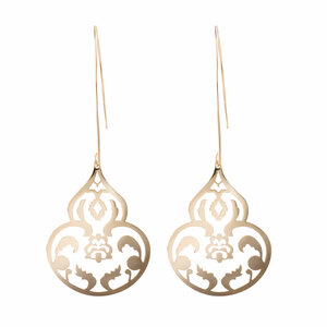 Gold Ornament by H2Z Filigree Jewelry - Filigree Dangle Earring