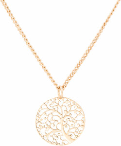 "Gold Arbor by H2Z Filigree Jewelry - 15"" - 18"" Filigree Necklace with 0.75"" Pendant"