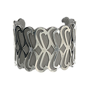 "Silver & Gray by H2Z Filigree Jewelry - 2"" Infinity Cuff Bracelet"
