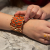 Gold & Orange by H2Z Filigree Jewelry - Model