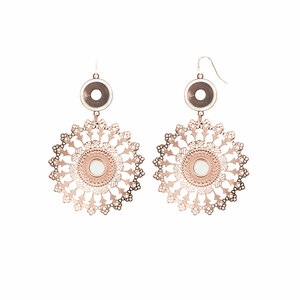 Rose Gold Mandala by H2Z Filigree Jewelry - Mother of Pearl Earrings