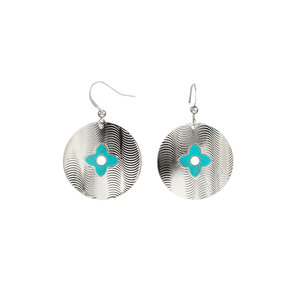 Silver Shield by H2Z Filigree Jewelry - Turquoise Earrings