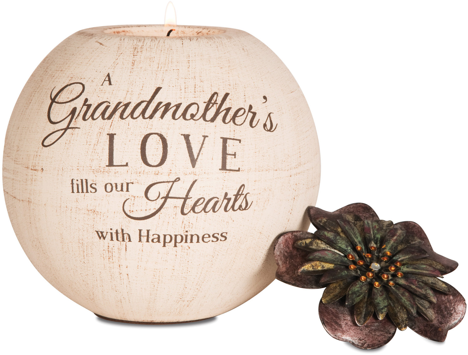 "Grandmother by Light Your Way - Grandmother - 5"" Round Tea Light Holder"