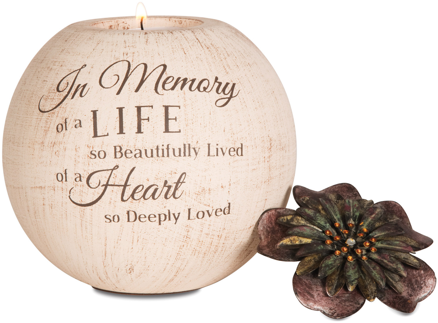 In Memory by Light Your Way - <em>In Memory</em> - Globe Candle Holder -